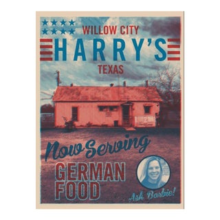 2018 Contemporary Texas Souvenir Poster - Harry's on the Loop For Sale