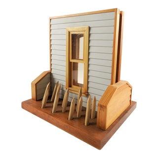 1990s Folk Art Wood Eric Weller House Sculpture