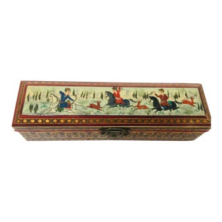 1950s Mosaic Inlaid Trinket Indo Persian Box For Sale