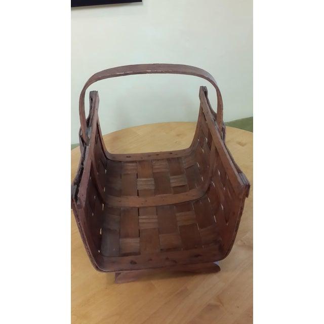 Early 20th Century Antique Split Oak Fireside Basket For Sale In San Francisco - Image 6 of 9
