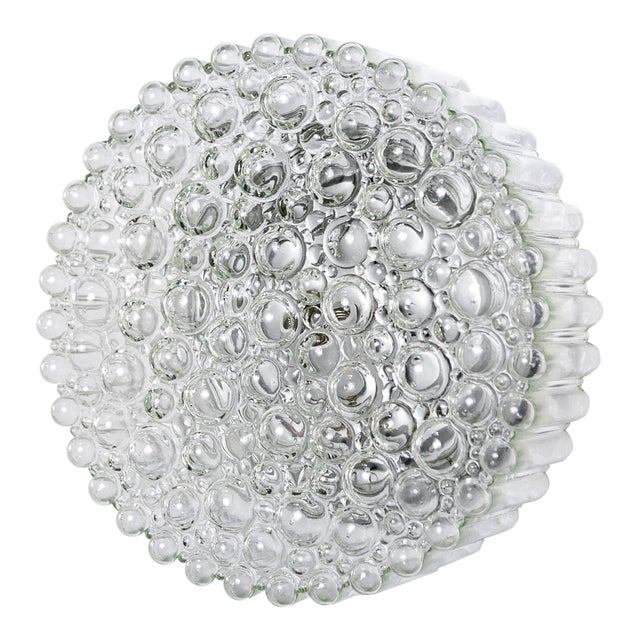 Circular Crystal Clear Bubbles Sconce by Helena Tynell For Sale