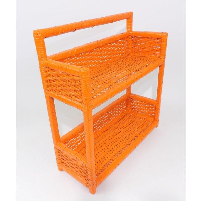 Orange Wicker Wall Shelf - Image 11 of 11