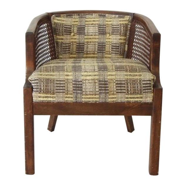 Vintage Boho Barrel Lounge Chair For Sale