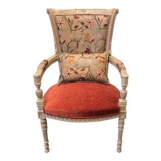 High Quality Handmade French Style Chair With Pillow