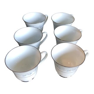 1960s Contemporary Chippendale Fine China Cups - Set of 6 For Sale