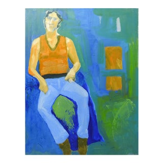 Modernist Portrait Painting by Bruce Clements For Sale