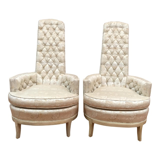Adrian Pearsall High Back Mid-Century Chairs - A Pair For Sale