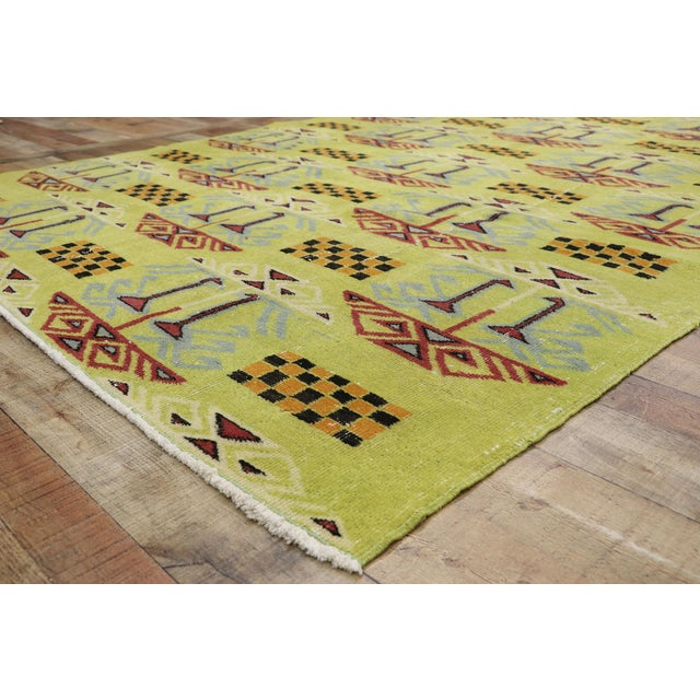 Vintage Zeki Muren Distressed Turkish Sivas Rug - 6′4″ × 9′5″ For Sale In Dallas - Image 6 of 10