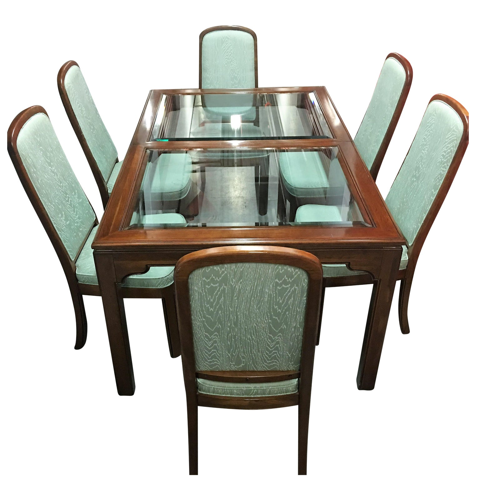 Ethan Allen Dining Room Sets: Ethan Allen Dining Table & Mint Green Chairs