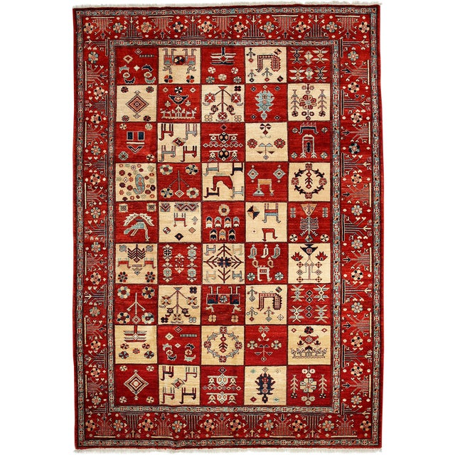 "Oushak, Hand Knotted Area Rug - 6'8"" X 9'8"" For Sale"