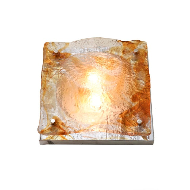 Set of 6 Italian Murano Mazzega Sculptural Glass Wall Sconces For Sale In Miami - Image 6 of 7