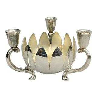 Italian Silverplate Candelabra Bowl