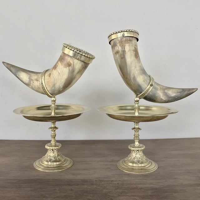 Pair 19th Century Bronze-Mounted Horn Bookends For Sale - Image 11 of 11