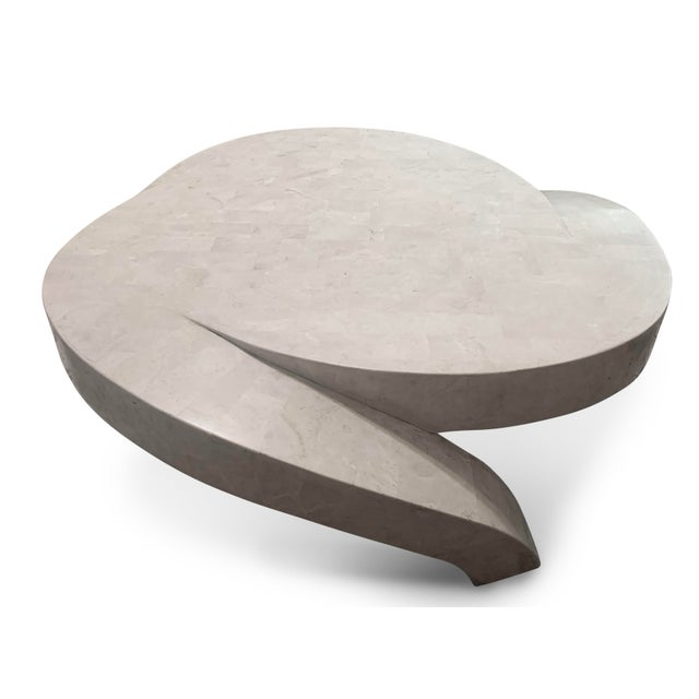 Mid-Century Modern Vintage Tessellated Marble Coffee Table For Sale - Image 3 of 11