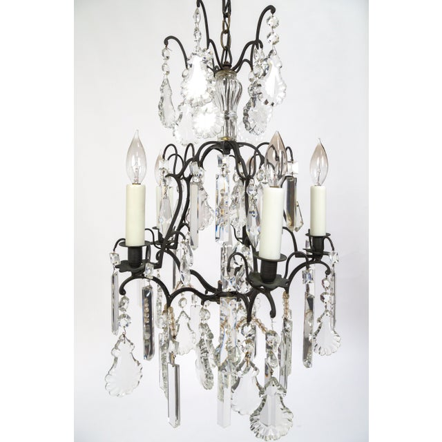 1920s Multi Crystal Birdcage Chandeliers (Pair) For Sale - Image 5 of 13