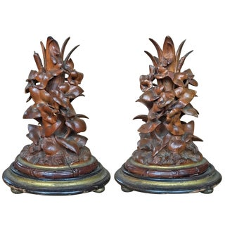 19th Century Black Forest Candlesticks - a Pair For Sale