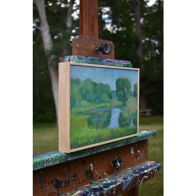 "Paint Stephen Remick ""The Frog Pond"" Contemporary Plein Air Painting For Sale - Image 7 of 9"