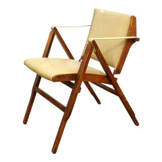Marco Zanuso for Artflex Italian Mid-Century Modern Folding 'Bridge Chair' For Sale