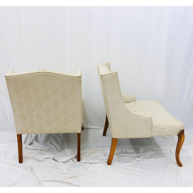 Pair Vintage French Style Side Chairs For Sale - Image 10 of 12
