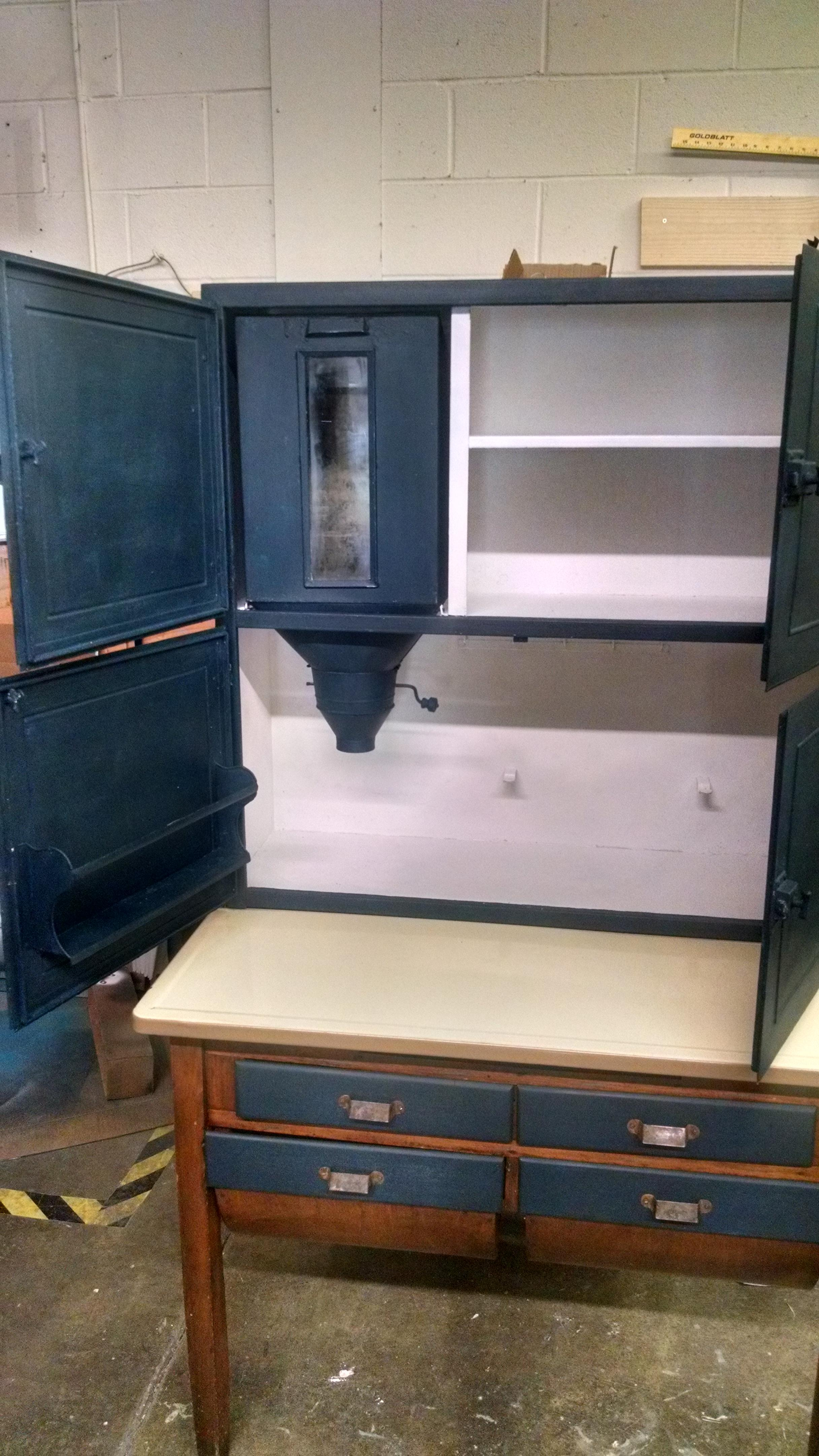Antique Hoosier Kitchen Storage Cabinet