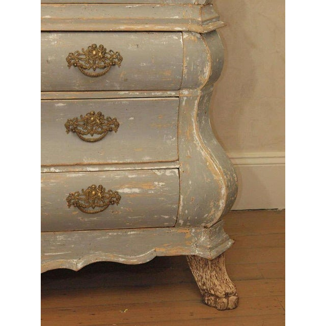 19th C Dutch Painted Buffet Deux Corp - Image 5 of 11