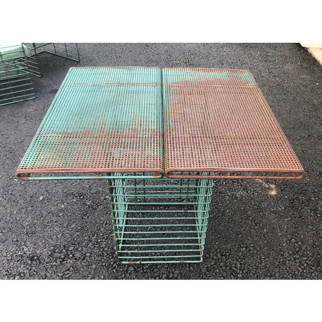 Josef Hoffmann Rare Josef Hoffmann Style Curvilinear Perforated Outdoor Dining Set - 5 Pieces For Sale - Image 4 of 12