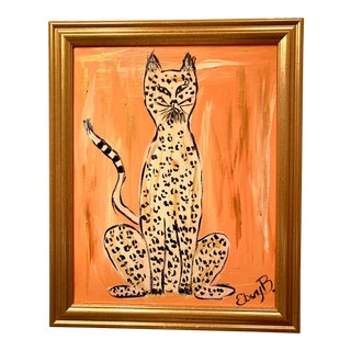 """Cheeky"" Leopard Painting For Sale"