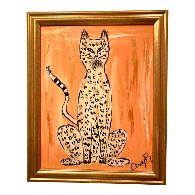 """""""Cheeky"""" Leopard Painting For Sale"""