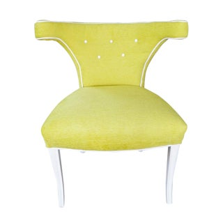 1960s Hollywood Regency Yellow Klismos Chair