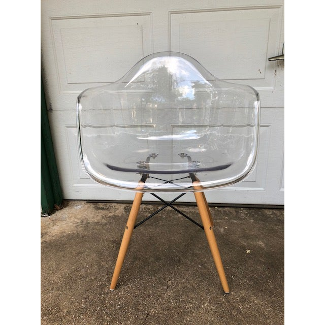 Modern Acrylic Side Chair For Sale In Dallas - Image 6 of 7
