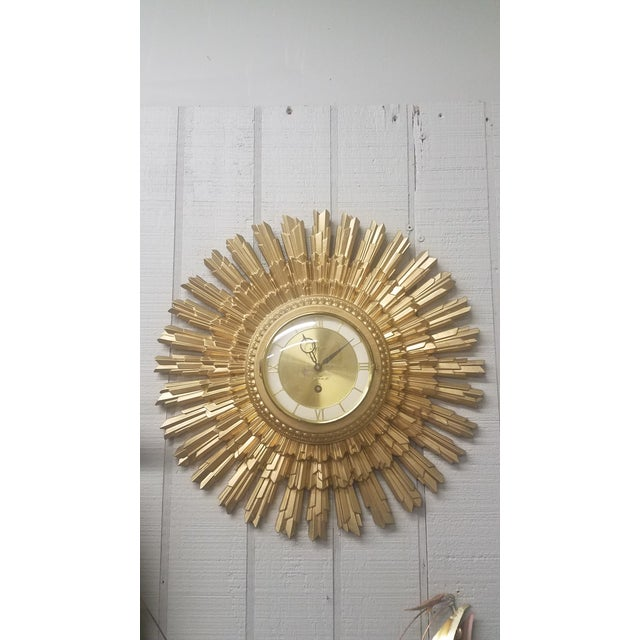 Syroco Gold Star Wall Clock For Sale In Dallas - Image 6 of 6