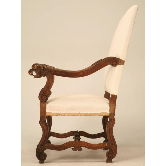 Circa 1880 French Walnut Os De Mouton Throne Chair For Sale - Image 4 of 11