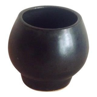 Boho Chic Modern Black Sphere Stoneware Vase/Planter