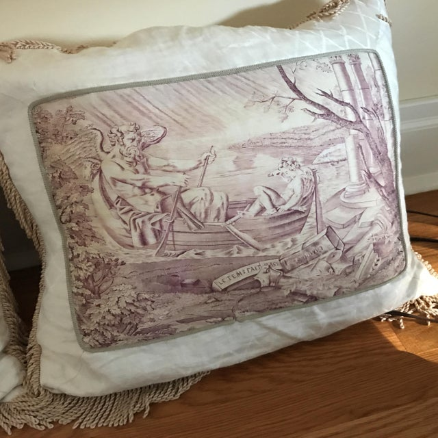 Vintage Victorian Pillows With Fringe - a Pair Chairish