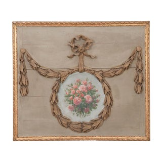 French 19th Century Architectural Overdoor Panel For Sale