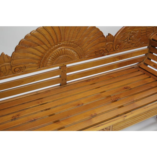 Colonial Java Carved Bench - Image 5 of 7