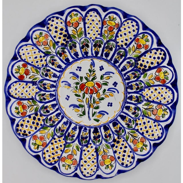 French Country Ceramic Large Plate For Sale - Image 12 of 12