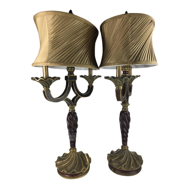 Vintage Style Table Lamps A Pair Chairish