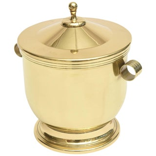 Classic Tommi Parzinger Polished Brass Ice Covered Ice Bucket