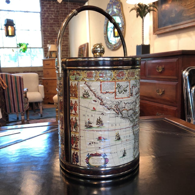 Mid-Century Map Ice Bucket - Image 2 of 11