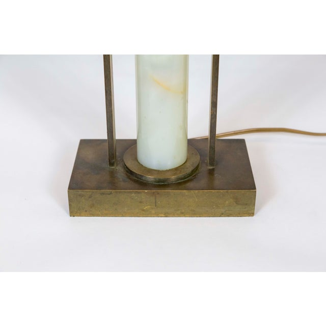 Art Deco Marble and Brass Table Lamp For Sale In San Francisco - Image 6 of 10