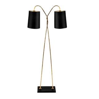 Antique Gold Leaf Lamp For Sale
