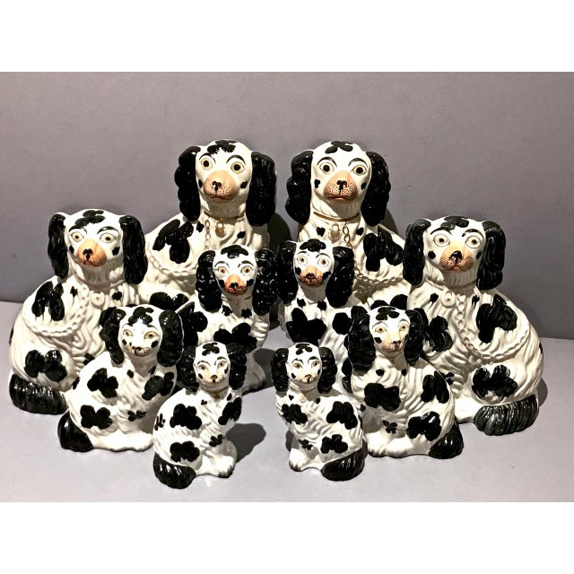 Set of 6 Pairs Graduated Staffordshire Spaniels, C. 1850 For Sale In Los Angeles - Image 6 of 6