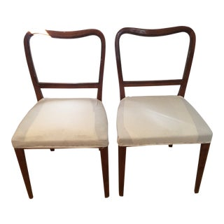 Vintage Swedish Modern Dining / Side Chairs - a Pair