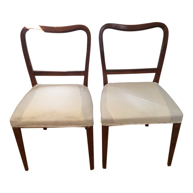 Vintage Swedish Modern Dining / Side Chairs - a Pair For Sale