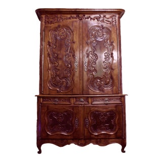 Antique Louis XV Walnut Buffet Du Corps
