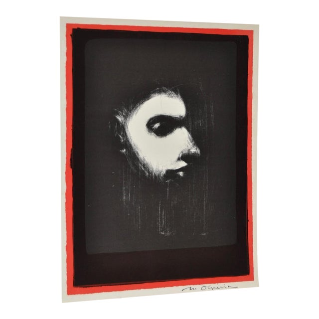Black & White Lithograph by Nathan Oliveira For Sale
