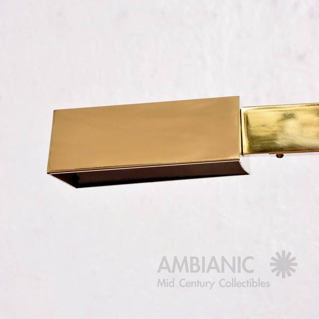 Mid-Century Modern Mid-Century Modern Brass Table Desk Lamp For Sale - Image 3 of 9