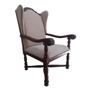 Theodore Alexander Regal Wingback Arm Chair