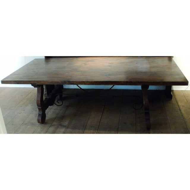 Antique Baroque Large Harvest Table - Image 3 of 11